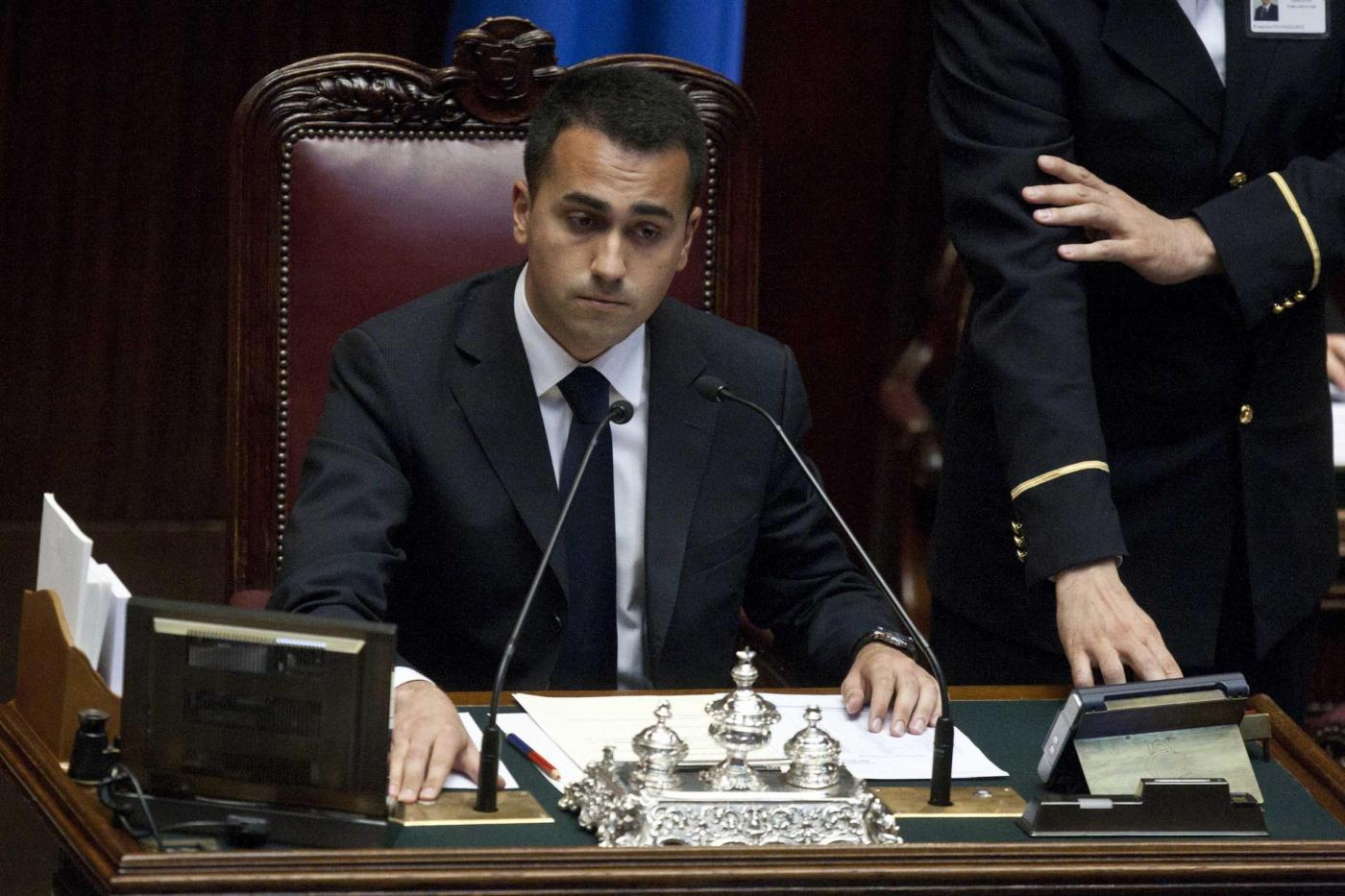 Foto Mauro Scrobogna /LaPresse 29-04-2013 Roma Politica Camera - Fiducia Governo Letta  Nella foto: Luigi Di Maio m5s Photo Mauro Scrobogna /LaPresse 29-04-2013 Roma Politics Chamber of Deputies - vote of confidence Letta Government In the picture: Luigi Di Maio m5s